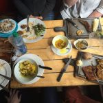 Food on a wooden table
