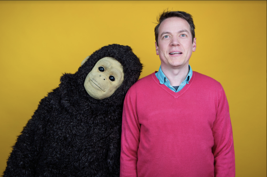 """Nina Conti as Monkey and Shenoah Allen as Roy in, """"Monkey and Roy"""""""